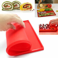 1X Mat Sheet Cake Silicone Kitchen Pastry Ware Baking Tray Oven Rolling Bakeware
