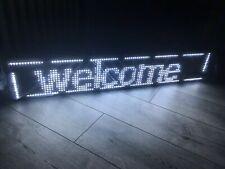 Außen LED-Laufschrift 100x20 Weiß WiFi Werbetafel programmierbar
