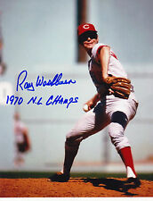 RAY WASHBURN CINCINNATI REDS 1970 NL CHAMPS ACTION SIGNED 8x10