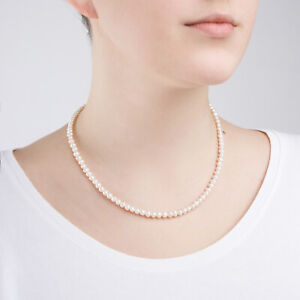 White Freshwater Pearl with 925 Sterling Silver Necklace Chain Fashion Jewellery
