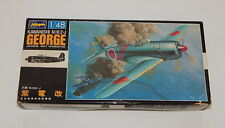 "Japanese Kawanishi NiK2-J ""George"" WWII Fighter Hasegawa Kit No. U2 1:48 Scale"