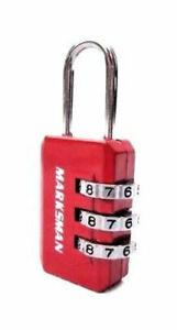 Combination Lock Travel Luggage Gym Locker Weatherproof Security Red Padlock