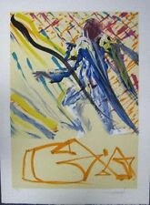 Dali Original Lithograph Hand Signed Numbered Les Vitraux Divine Word 1974