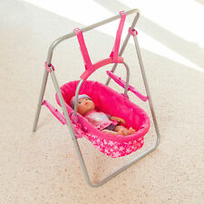 Snuggles Toy Doll Swing/Carry Basket With Pink Floral Designs For Use With Dolls