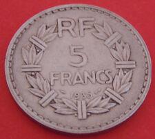 MONNAIE DE    5 FRANCS 1935 LAVRILLIER.    NICKEL