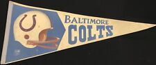 Vintage Baltimore Colts Pennant