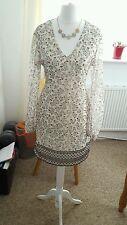 "Ladies ""Mango Suit Collection"" Cream Autumn Style Dress (Size M)"