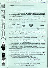 1965 The Yardbirds Concert Contract The Downs Hassocks Sussex UK Jeff Beck