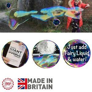 GIANT BUBBLE SOLUTION MAGIC POWDER! Refill Big Bubbles Solution Liquid 1L 3L 5L