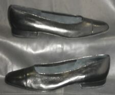 Vaneli black leather closed cap toe pumps slip ons Women's shoes size 6 1/2 M