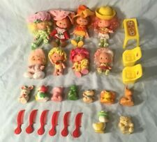 Vintage Strawberry Shortcake Doll Lot with Pets Furniture & Combs