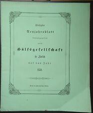 Hülfsgesellschaft Zürich 50. Neujahrsblatt 1850 Schweiz Suisse Waldenser 3.Teil