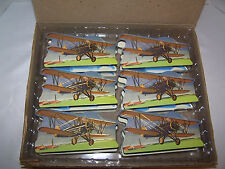 (12) 1998 Shackman Toy Airplane Set Gift Box Teal Pumpkin Project Allergy Safe