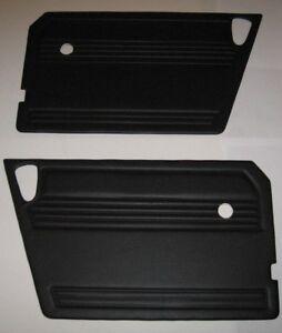 New Pair of Black Door Panels for MG Midget 1970-79 Made in UK