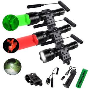 500yard Hunting Flashlight LED Red / Green Light Coyote Hog Pig Varmint Predator