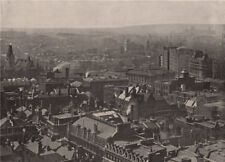 View from St. Paul's looking North-West. London 1896 old antique print picture