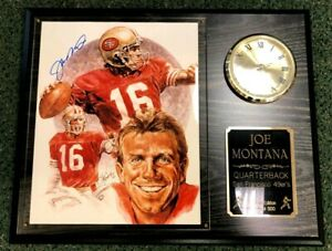 JOE MONTANA Autograph Wall Clock Plaque 49ers