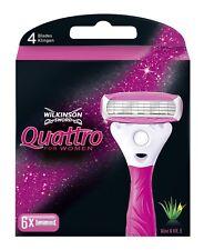 Wilkinson Sword Quattro pour femmes lames de rasoir x 6 LOT