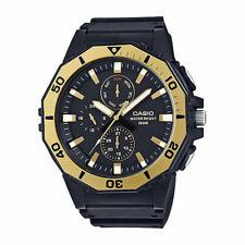 Casio Men's Quartz Diver Gold Tone Multi Dial Resin Band 47mm Watch MRW400H-9A