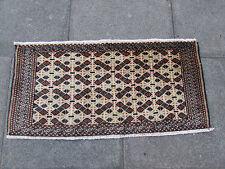 Antico Tradizionale Persiano Lana Marrone 3x2 Tappeto orientale fatto a mano Carpet Rug 50x100cm
