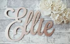Personalised large wooden script name 20cm any 5 letters name gift rose gold