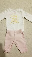 Carters Baby Girl Size Nb long sleeve Outfit