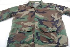 Robett Mfg Co. US ARMY Woodland Camo Combat LS Shirt Large -Missing Button #H875