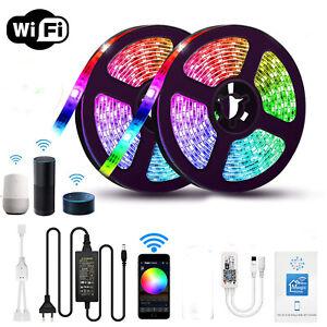12V WIFI RGB RGBW/WW Led Strip 5050 Light Magic Home for Alexa Google tape lamp