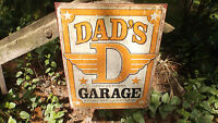 Garage Shop Tin Metal Advertising Sign For Dad Fathers Day Sign Wall Decor NEW