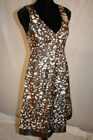 Banana Republic Women's Lattice Dress size 4 100% Silk Corporate Sleeveless