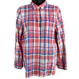 J.Crew Multicolor Plaid Long Sleeve Top Women's Size Small
