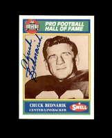Chuck Bednarik Hand Signed 1990 Swell Philadelphis Eagles Autograph
