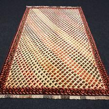 Orient Teppich Beige 192 x 120 cm Perserteppich Gabbeh Handgeknüpft Carpet Rug