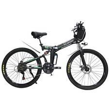 "New Upgrade CLIENSY26""Foldable E-bike City Mountain Electric Bike 36V 350W Black"