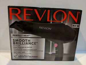 Revlon Perfect Heat Smooth Brilliance Hair Blow Dryer Ionic NEW 2514
