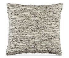 Whim by Martha Stewart Collection Tufted Chenille Stripe 20'' Pillow Ivory/Black