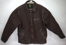 Aigle Duck Canvas Fleece Lined Chore Coat Mens XXL Sherpa Jacket Carhartt-like