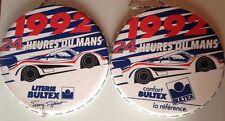 RARE LOT 2 COUSSINS PROMO BULTEX 24 HEURES DU MANS 1992