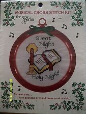 """New Berlin """"Silent Night"""" Cross Stitch Kit With Frame Size 4 1/2"""""""