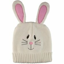 Knitted Easter Bunny Hat, Children's Beanies - Pink and White Hats (Set of 2)