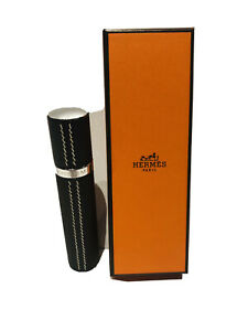 HERMES Paris Brown Leather Travel Perfume Atomizer