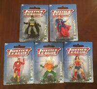 "Justice League Action Figure Lot NEW 3"" DC Batman Aquaman Superman WW Flash"
