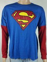 superman long sleeve shirt size XL