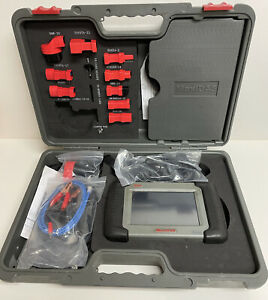 Autel MaxiDAS DS708 Diagnostic Scanner Case/Manual/Adapter Like New WORKS!