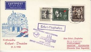 GDR First Flight Erfurt - Dresden 1958