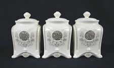 SET OF THREE TEA /SUGAR/COFFEE CANISTER SET
