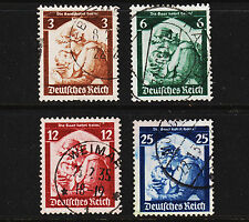 1935 Germany Return of Saar Set Sc#448-451 Mi#565-8 Clean Used Sound 18283