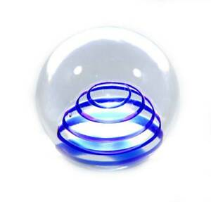 Vintage Caithness PEARL OF ARCADIA blue swirl paperweight