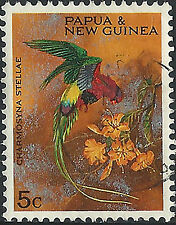PNG 1967  5c  Christmas Territory Parrots  VFU  (35)  Very clean