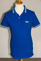 "Superdry ""London Fit"" Skiny Fit Short Sleeve Pique Cotton Polo Shirt Blue Large"